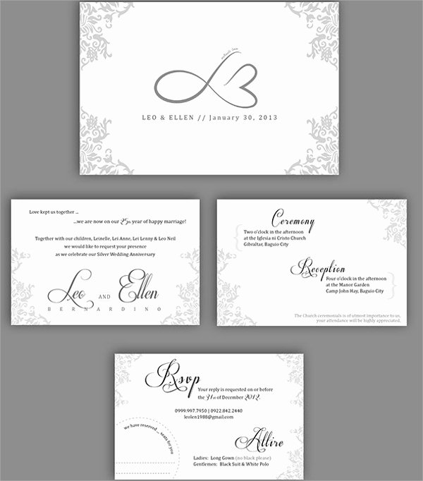 Wedding Anniversary Invitation Template Beautiful 13 Sample Amazing Anniversary Invitation Templates