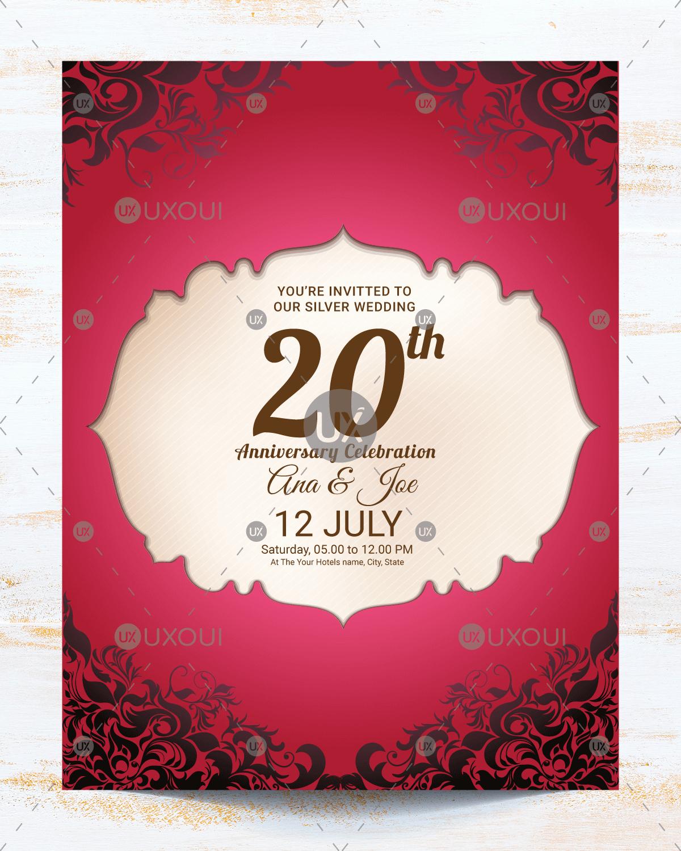 Wedding Anniversary Invitation Template Best Of Vintage Wedding Anniversary Invitation Card Template