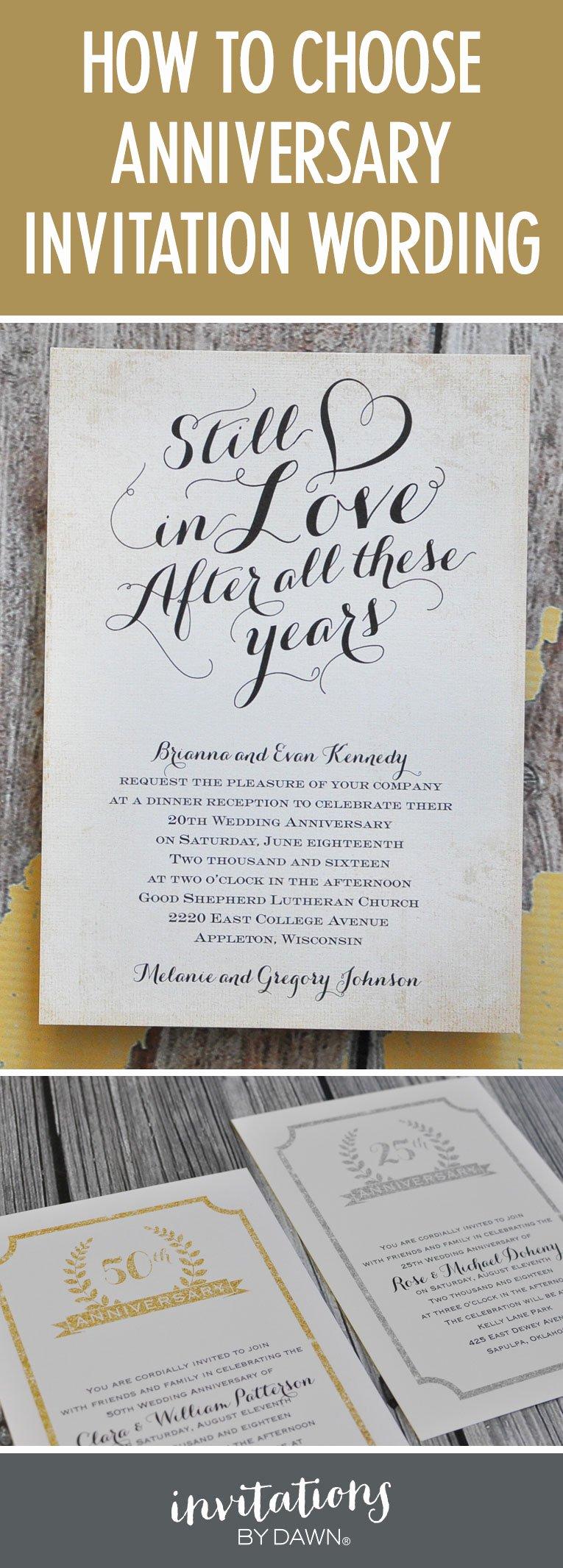 Wedding Anniversary Invitation Template Lovely Finding the Right Wedding Anniversary Invitation Wording