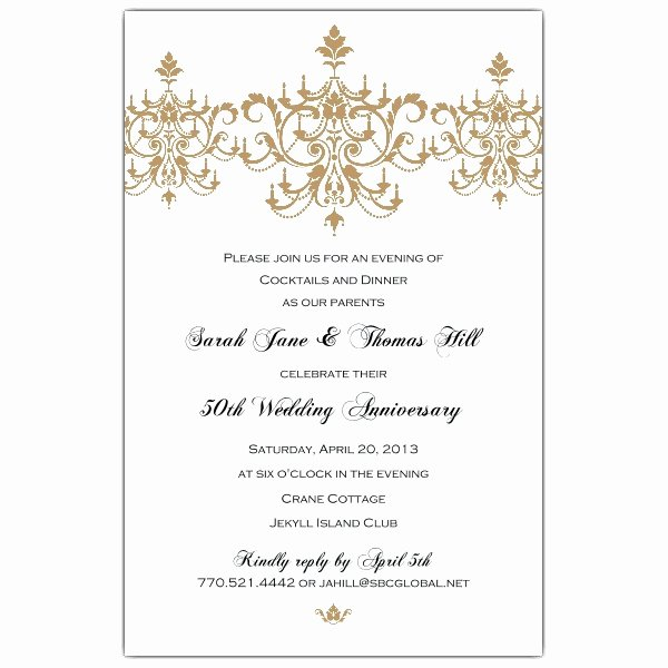 Wedding Anniversary Invitation Template Luxury 50th Wedding Anniversary Invitation Templates Margusriga