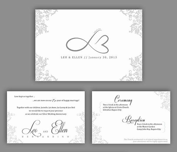 Wedding Anniversary Invitation Template New 22 Wedding Anniversary Invitation Card Templates Word