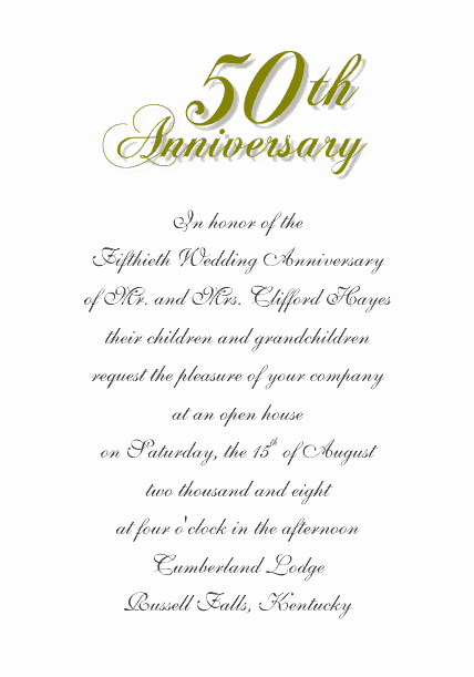 Wedding Anniversary Invitation Template New Free Wedding Templates