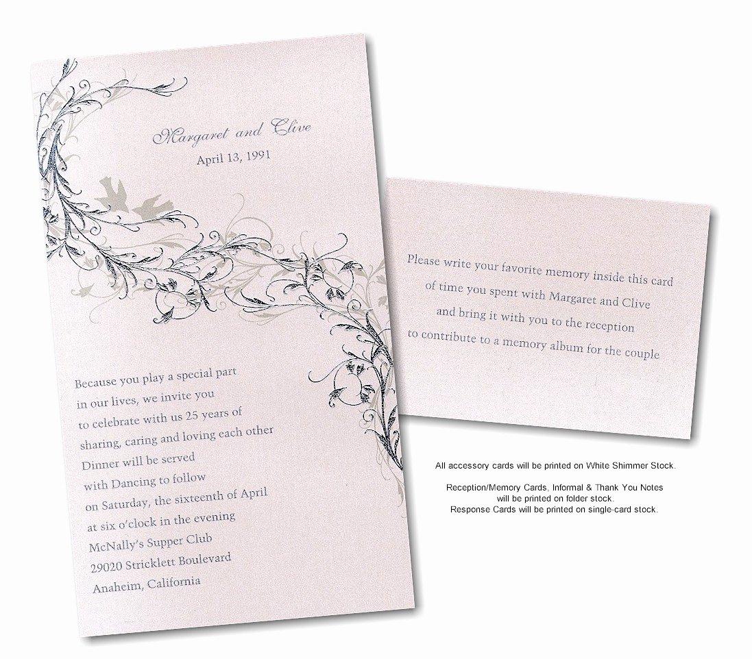 Wedding Anniversary Invitation Template New Silver Wedding Anniversary Invitations Templates