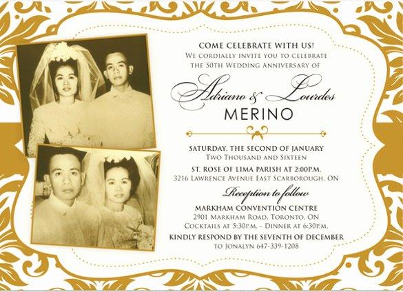 Wedding Anniversary Invitation Template Unique 30 Anniversary Invitation Templates Psd Vector Eps Ai