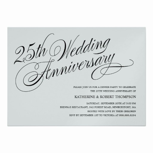 Wedding Anniversary Invite Template Awesome Wedding Invitation Wording Silver Wedding Anniversary