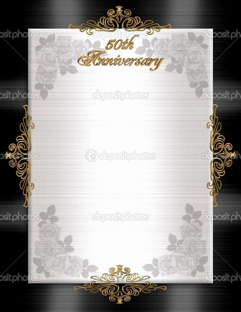 Wedding Anniversary Invite Template Best Of 50th Wedding Anniversary Printable Invitation