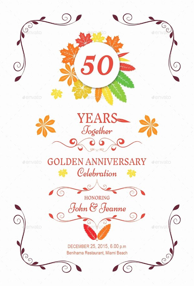 Wedding Anniversary Invite Template Elegant 17 Anniversary Invitation Designs Ideas