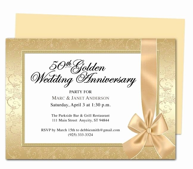 Wedding Anniversary Invite Template Elegant Wrapping Anniversary Invitation Template