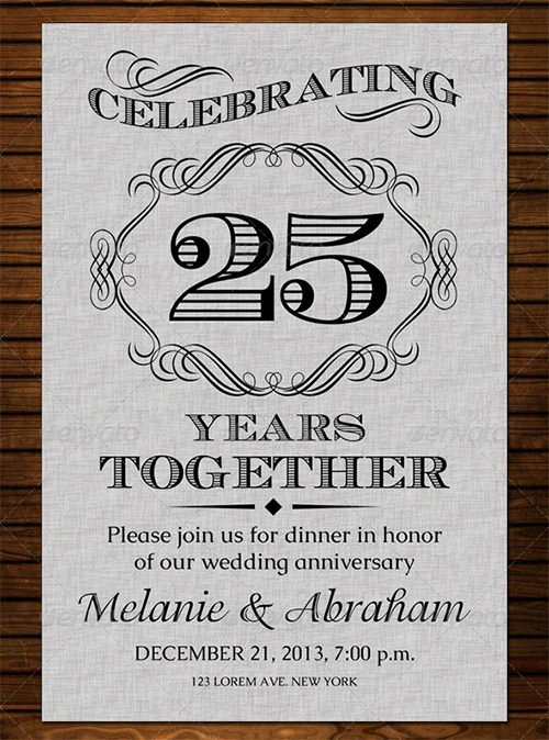 Wedding Anniversary Invite Template Lovely 22 Anniversary Invitation Templates Psd Ai Word