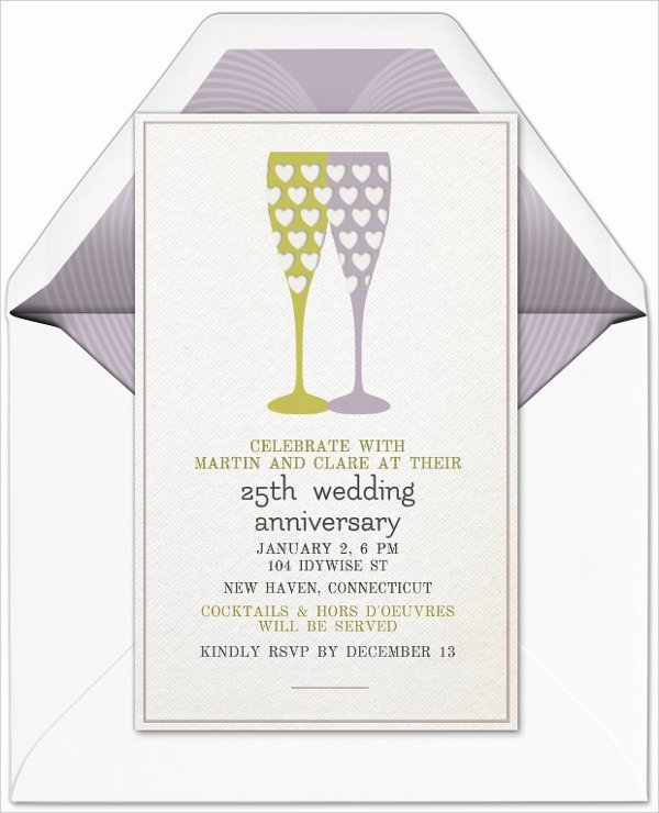 Wedding Anniversary Invite Template New 22 Wedding Anniversary Invitation Card Templates Word