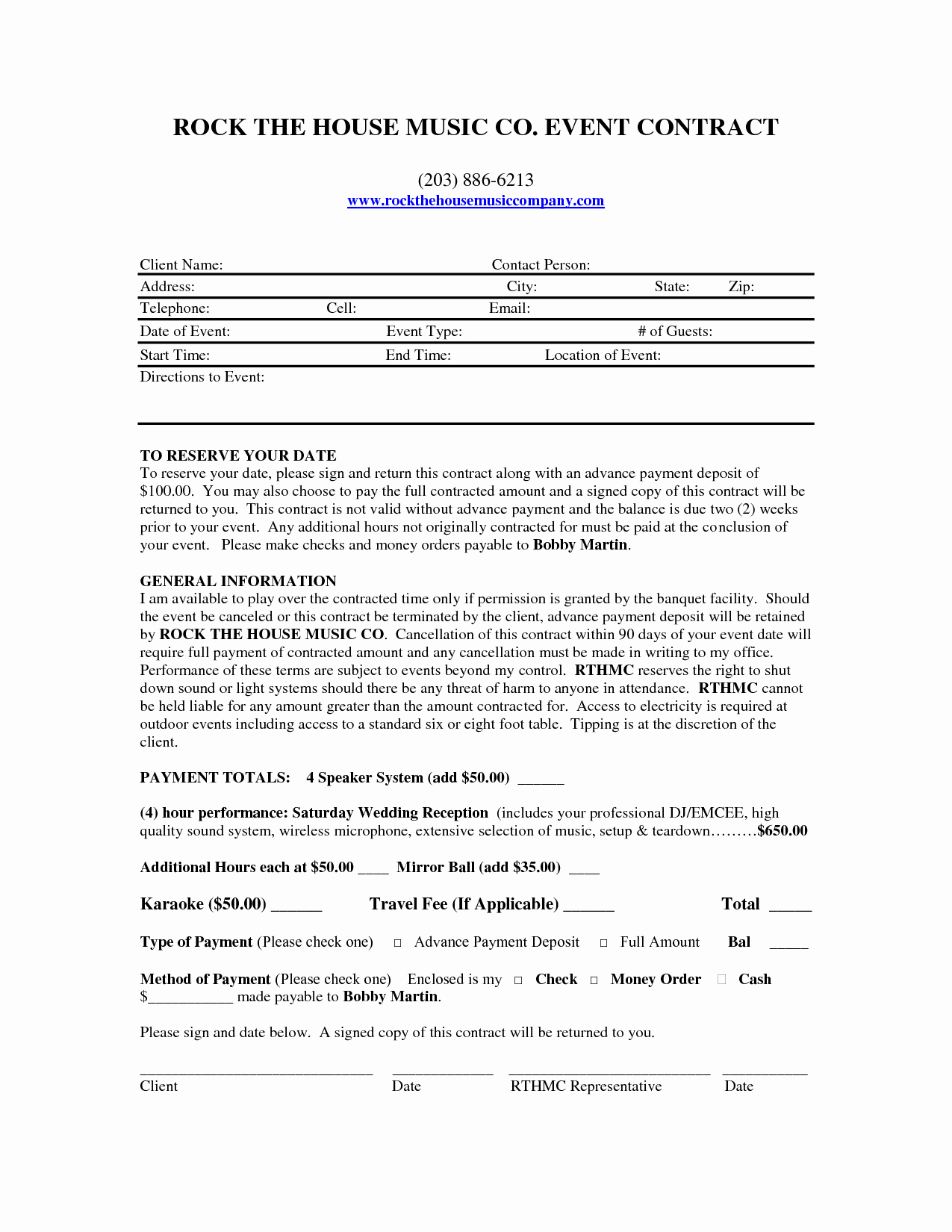 Wedding Band Contract Template Best Of Template Dj Contract Template