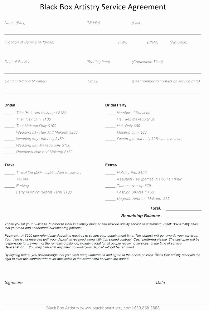 Wedding Band Contract Template Best Of Wedding Contract Template Free Bridal Makeup for