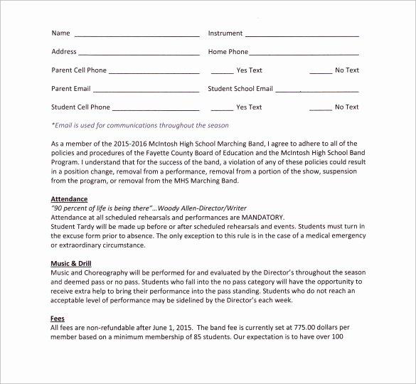 Wedding Band Contract Template Elegant Band Contract Template 14 Samples Examples format