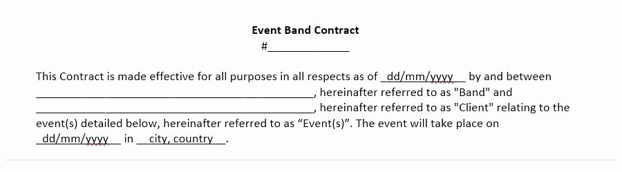 Wedding Band Contract Template Inspirational Mobile Contract Template Entertainment Music Band – Mklaw