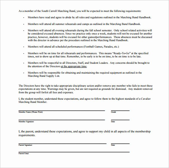 Wedding Band Contract Template Unique 18 Band Contract Templates – Free Samples Examples