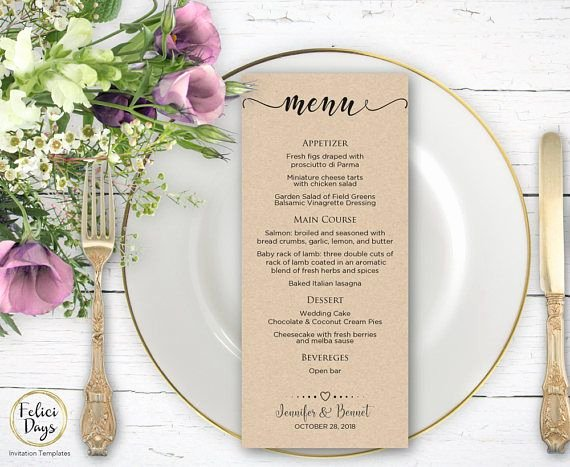 Wedding Bar Menu Template Luxury 25 Best Ideas About Rustic Wedding Menu On Pinterest