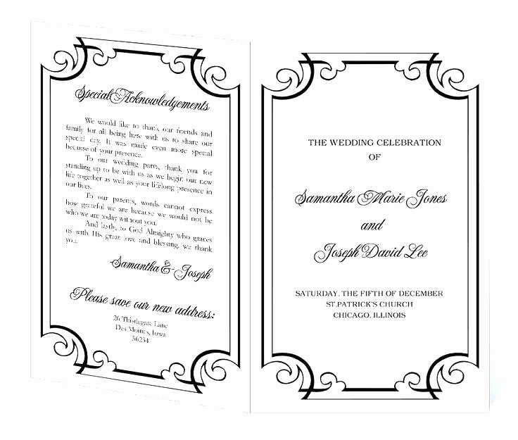 Wedding Church Program Template Elegant Church Fan Template Printable Wedding Program order