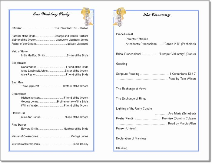 Wedding Church Program Template Fresh Church Program Template