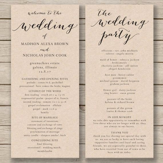 Wedding Church Program Template Fresh the 25 Best order Of Service Ideas On Pinterest