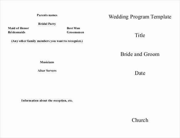 Wedding Church Program Template Unique 67 Wedding Program Template Free Word Pdf Psd
