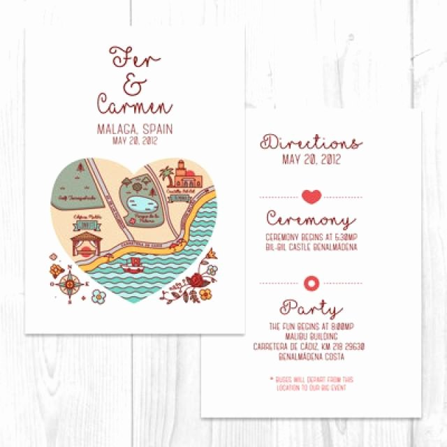 Wedding Direction Card Template Beautiful Wedding Map Elopement Printable Map Diy Location