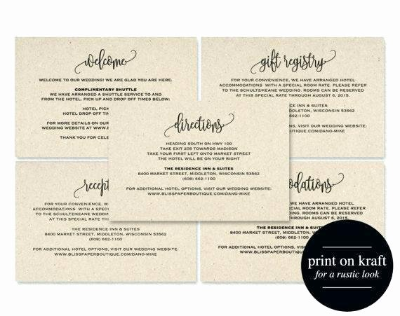 Wedding Direction Card Template Unique Printable Wedding Invitation Template Suite Invite
