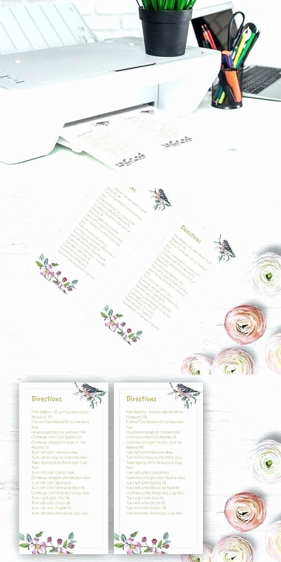 Wedding Direction Cards Template Fresh Rustic Wedding Invitations Template Cheap Press Print