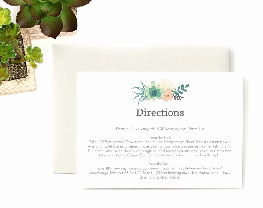 Wedding Direction Cards Template Unique Wedding Direction Card Template Wedding Map Card Wedding