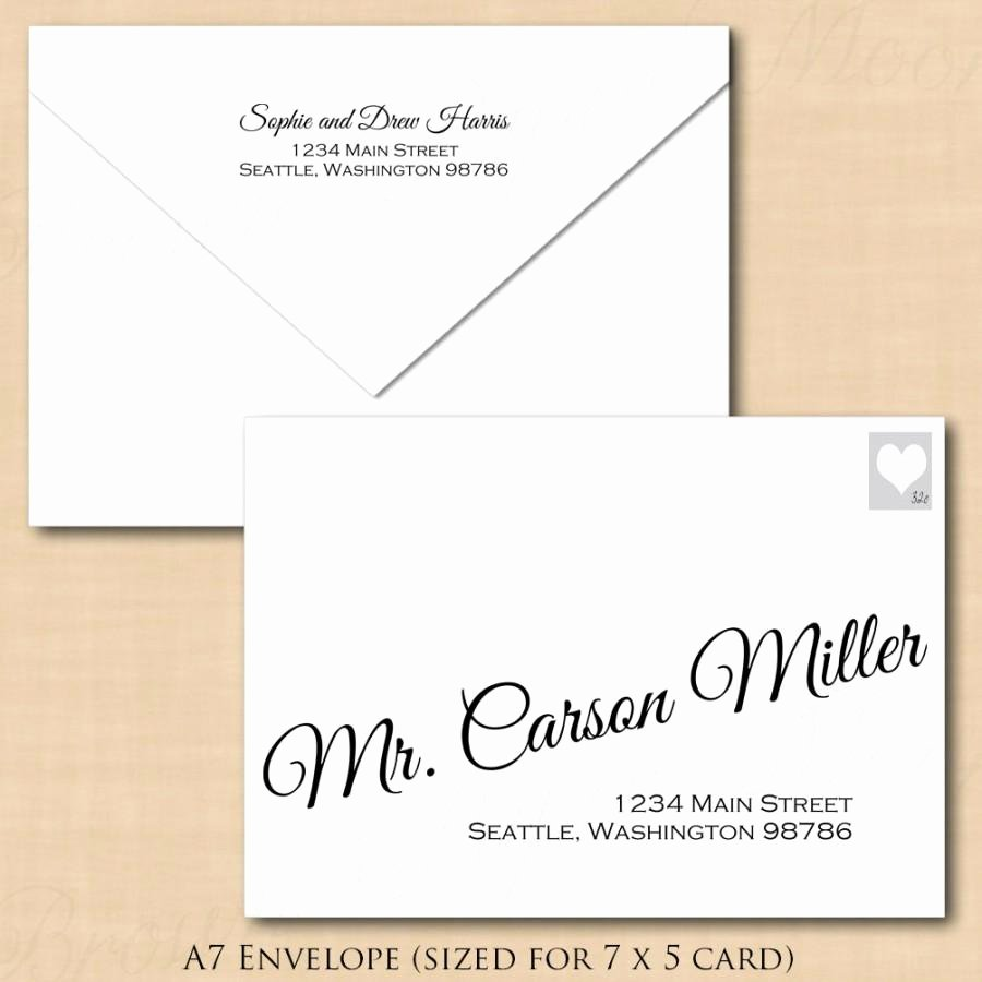 Wedding Envelope Printing Template Beautiful Change All Colors Calligraphy Address Wedding Envelope