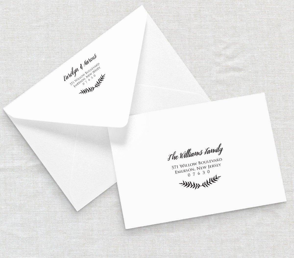 Wedding Envelope Printing Template Fresh Envelope Template Printable Wedding Calligraphy Address