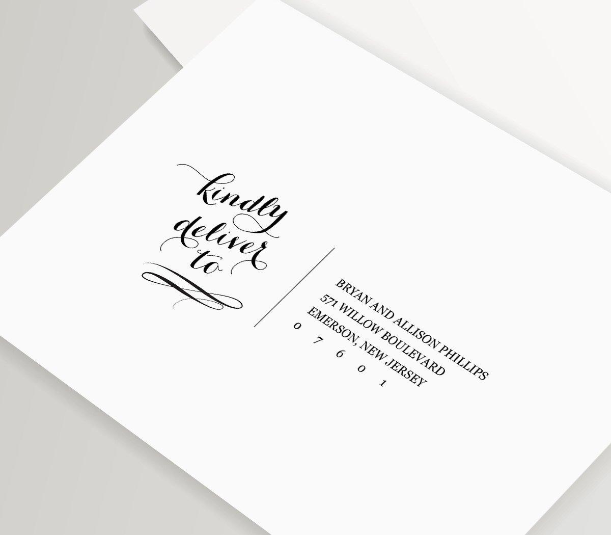 Wedding Envelope Printing Template Inspirational Calligraphy Address Template Wedding Envelope Printable Diy