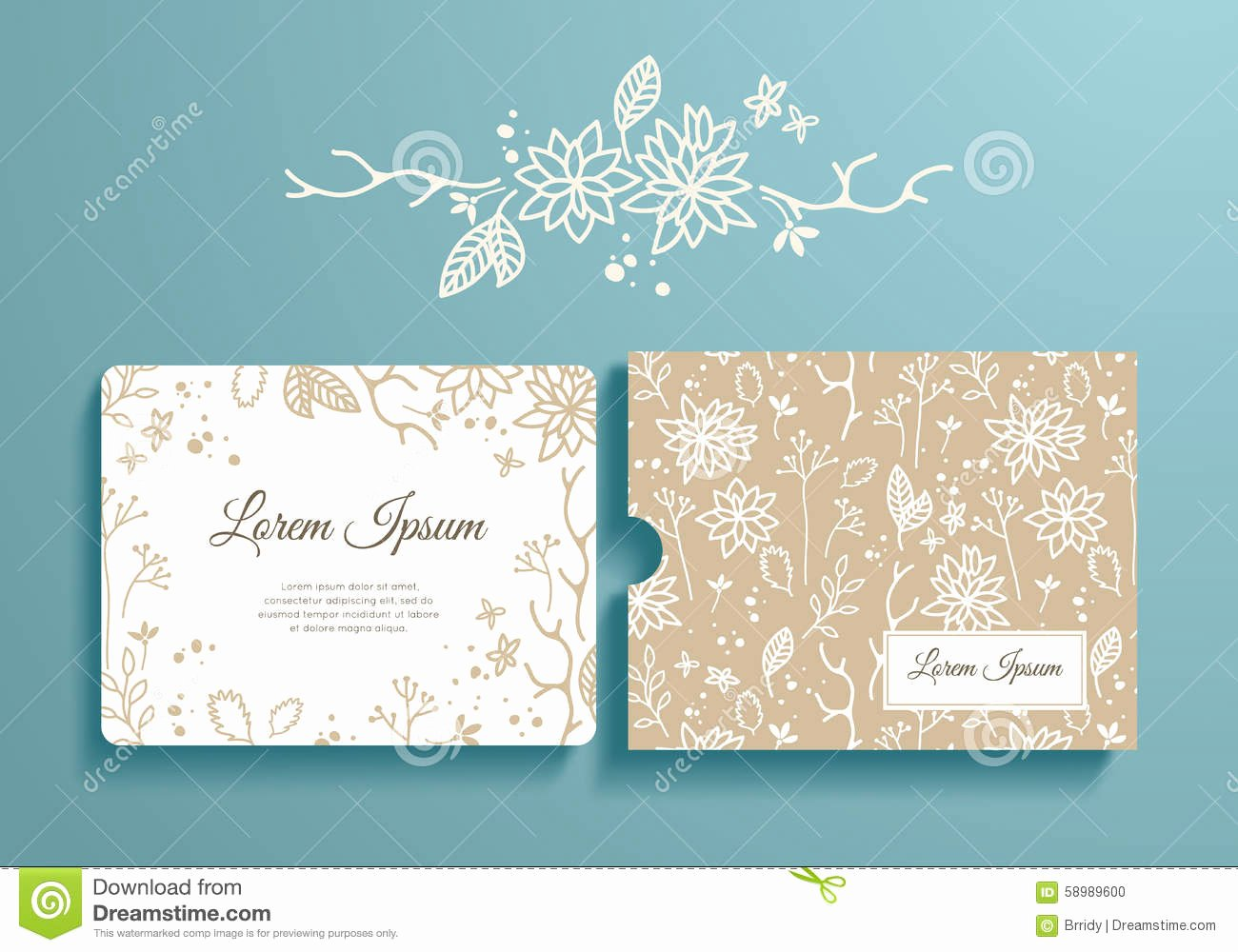 Wedding Envelope Printing Template Inspirational Floral Set Romantic Invitation and Envelope Stock