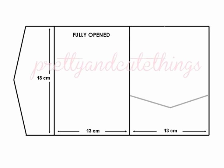 Wedding Envelope Printing Template Lovely Diy Pocketfold Wedding Invitations Template