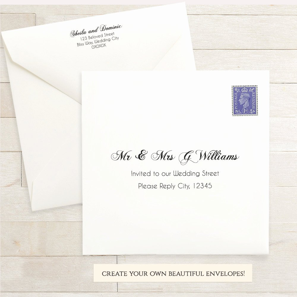 Wedding Envelope Printing Template Lovely Printable Wedding 6x6 Envelope Template 6 X 6 Invitation