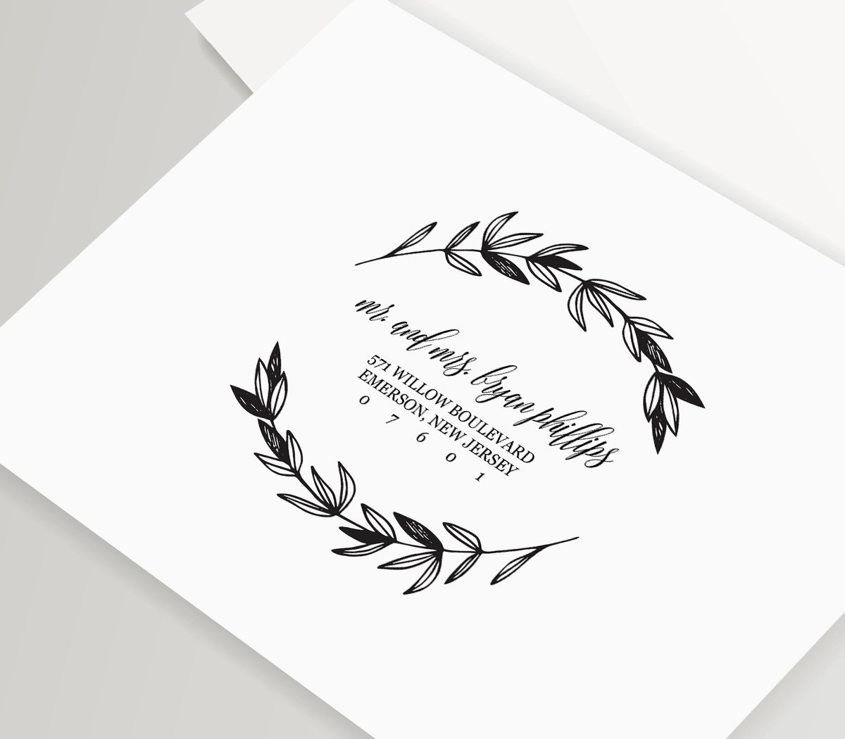 Wedding Envelope Printing Template Lovely Rustic Wedding Calligraphy Envelope Addressing Template