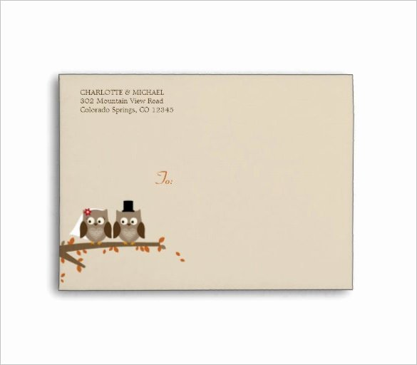 Wedding Envelope Printing Template New 18 Wedding Card Envelope Templates Doc Pdf Psd