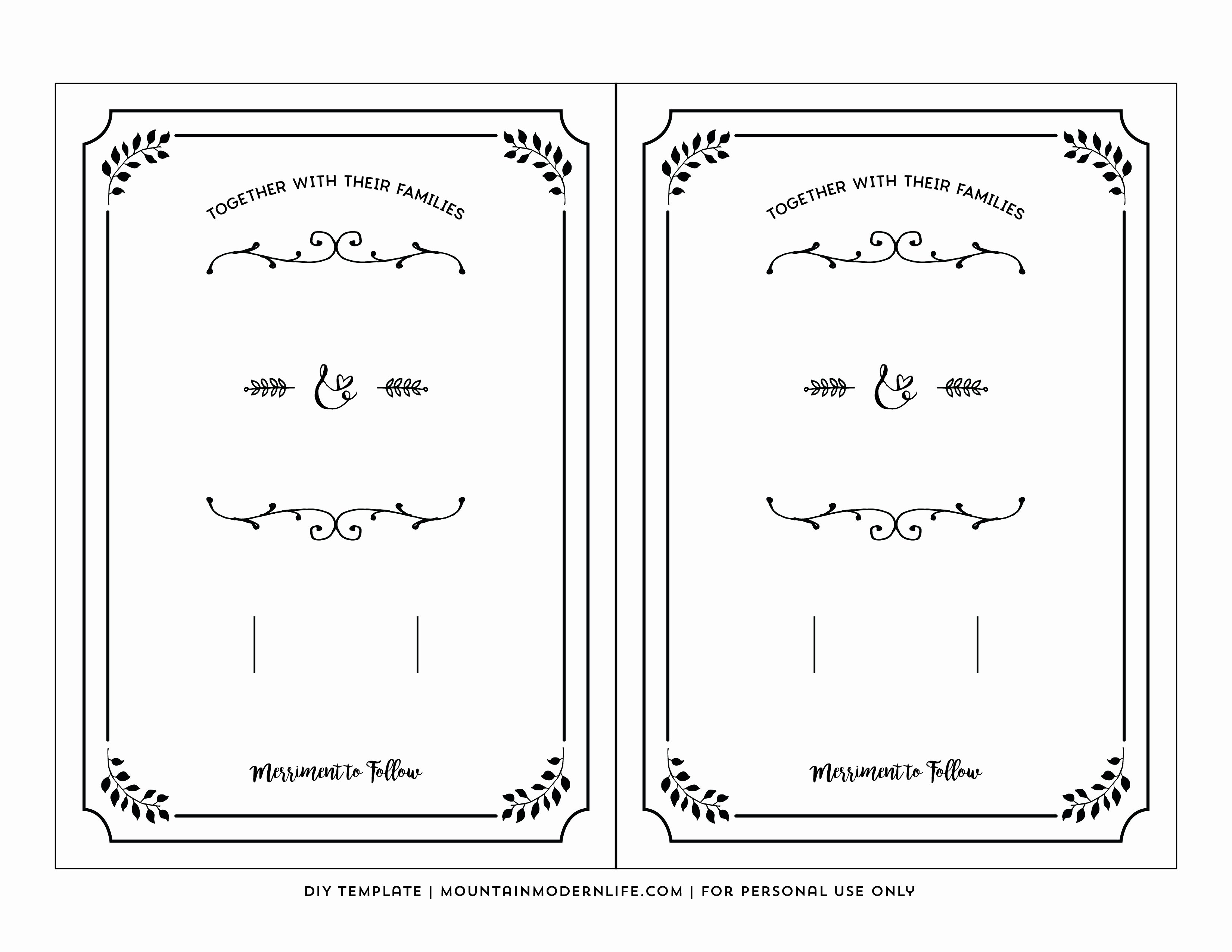 Wedding Envelope Printing Template New Printable Wedding Invite Templates