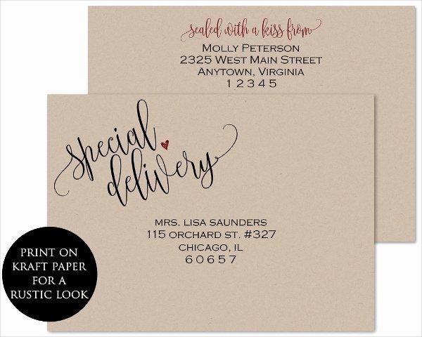 Wedding Envelope Printing Template Unique 20 Printable Envelope Templates Free Psd Ai Eps
