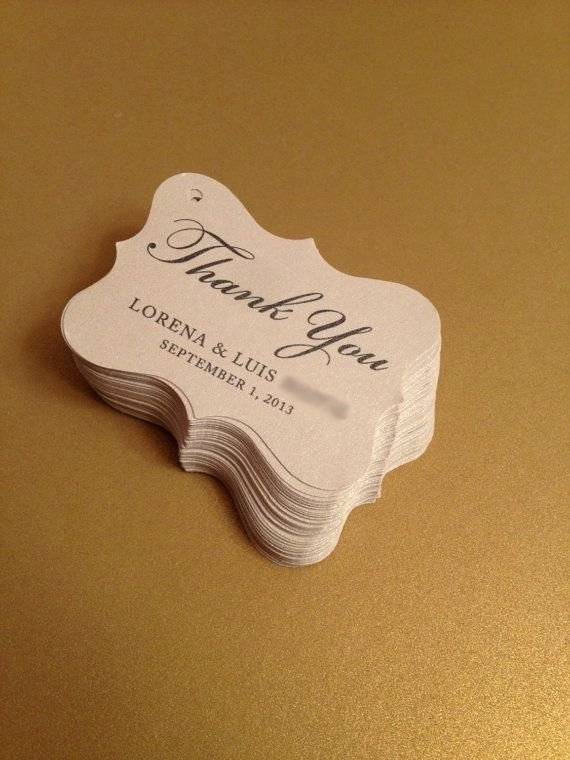 Wedding Favor Labels Template Best Of Wedding Favor Tags Party Favor Tags Thank You by
