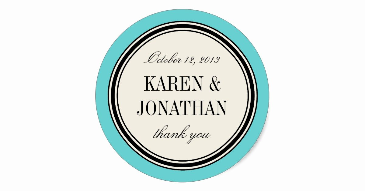 Wedding Favor Labels Template Fresh Round Vintage Label Wedding Favor Template Blue Classic