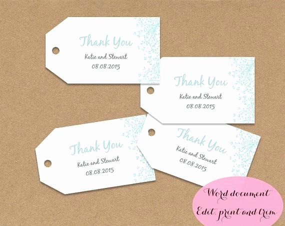 Wedding Favor Labels Template Fresh Wedding Favour Tag Template Design Ideas Fearsome