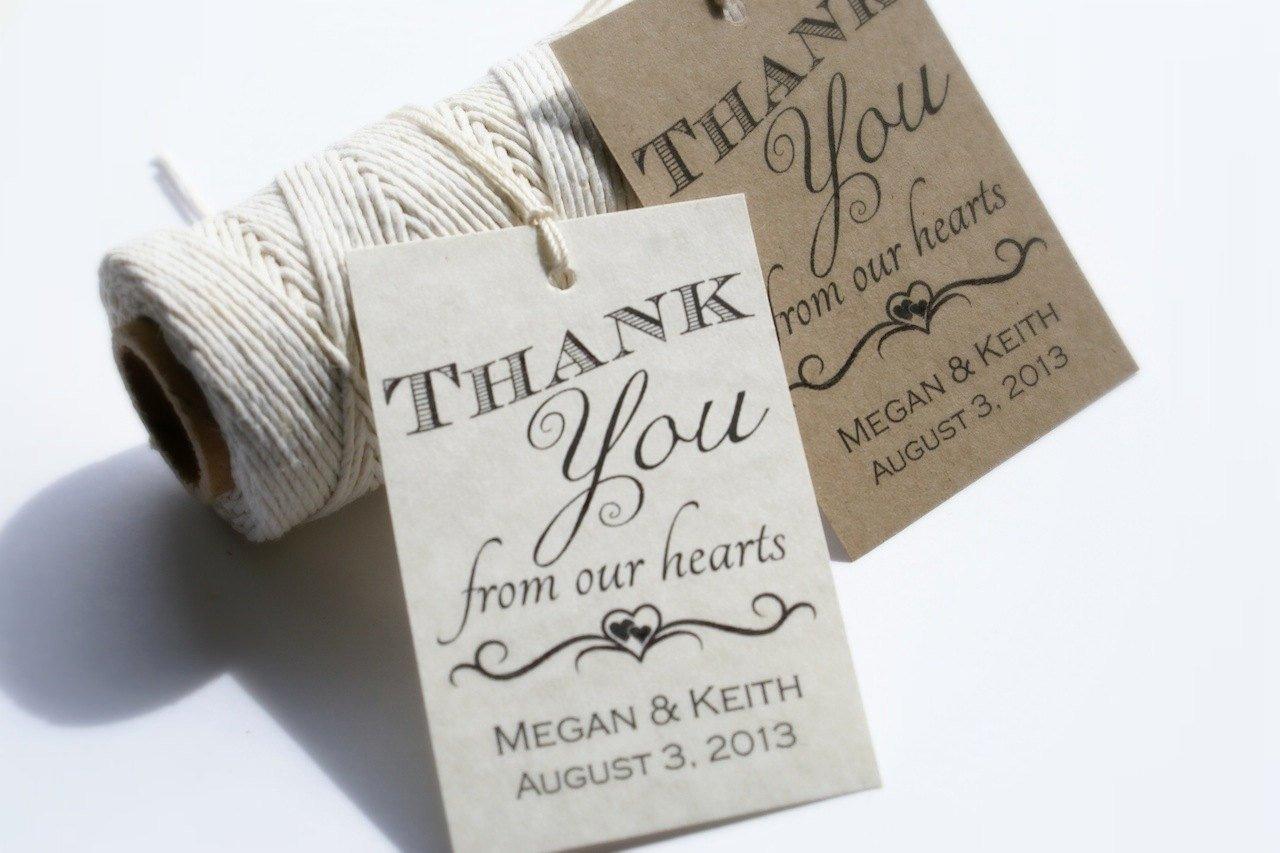 Wedding Favor Labels Template New Printable Wedding Favor Tags Custom Diy Thank by
