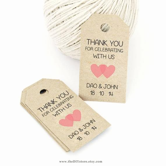 Wedding Favor Tag Template Awesome Favor Tag Template Printable Small Double Heart Design