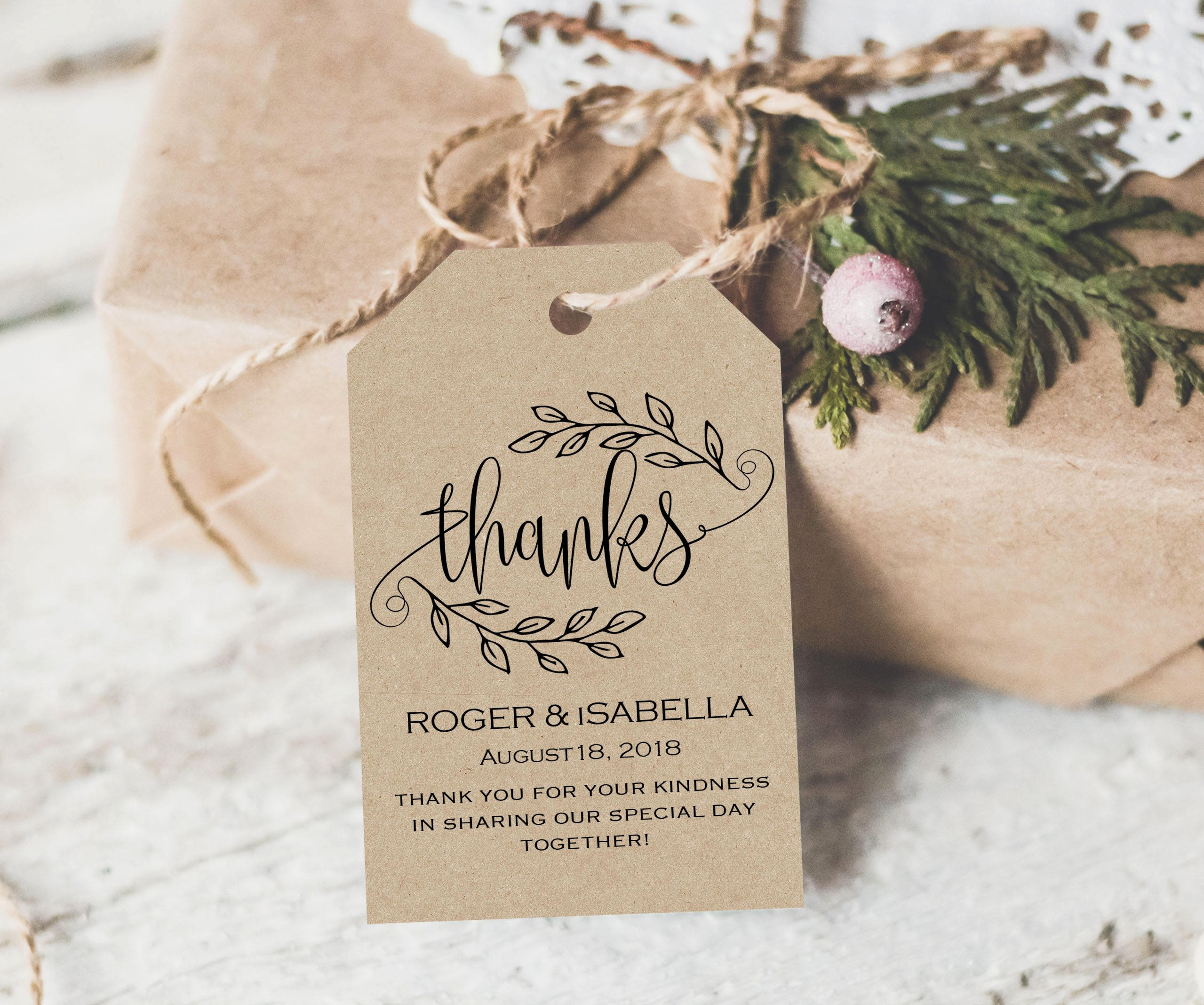 Wedding Favor Tag Template Awesome Thank You Tag Wedding Printable Gift Tags Wedding Thank