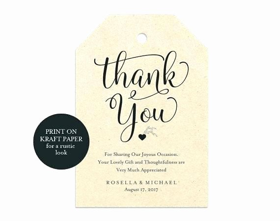 Wedding Favor Tag Template Beautiful Thank You Tag Template Awesome Party Favor Tags Best