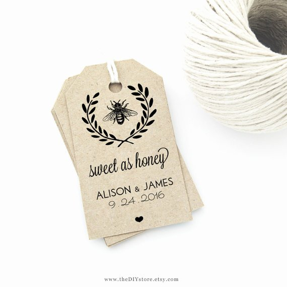 Wedding Favor Tag Template Fresh Honey Bee Wedding Favor Tag Template Medium Tag Size