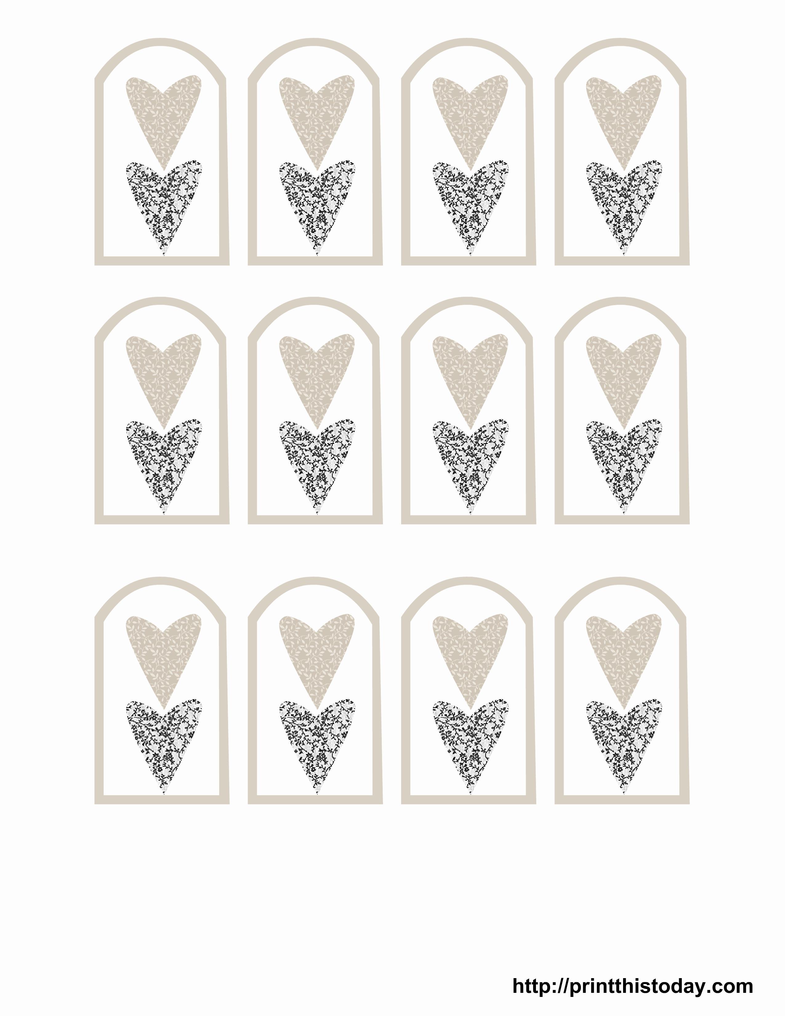 Wedding Favor Tags Template Elegant Free Printable Wedding Favor Tags