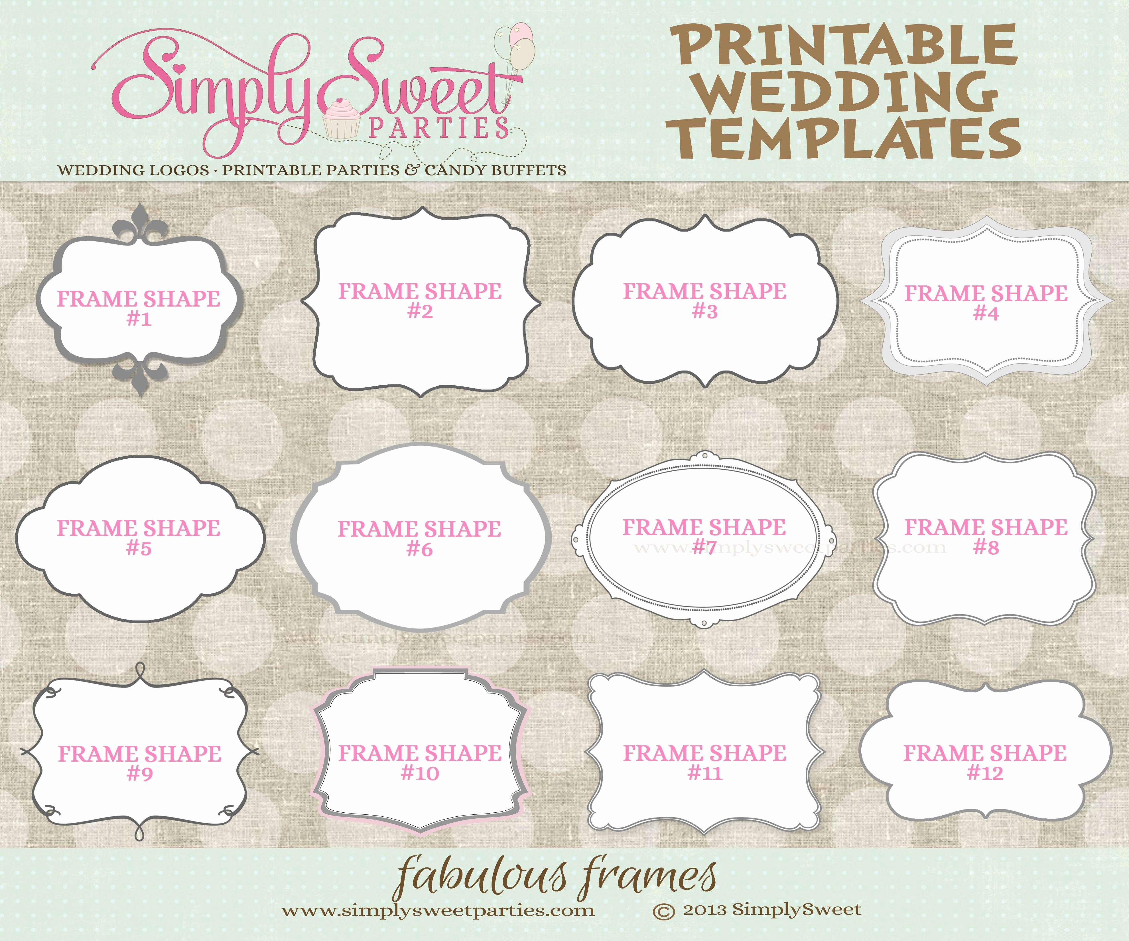 Wedding Favor Tags Template Inspirational 9 Best Of Printable Wedding Templates Favor Free