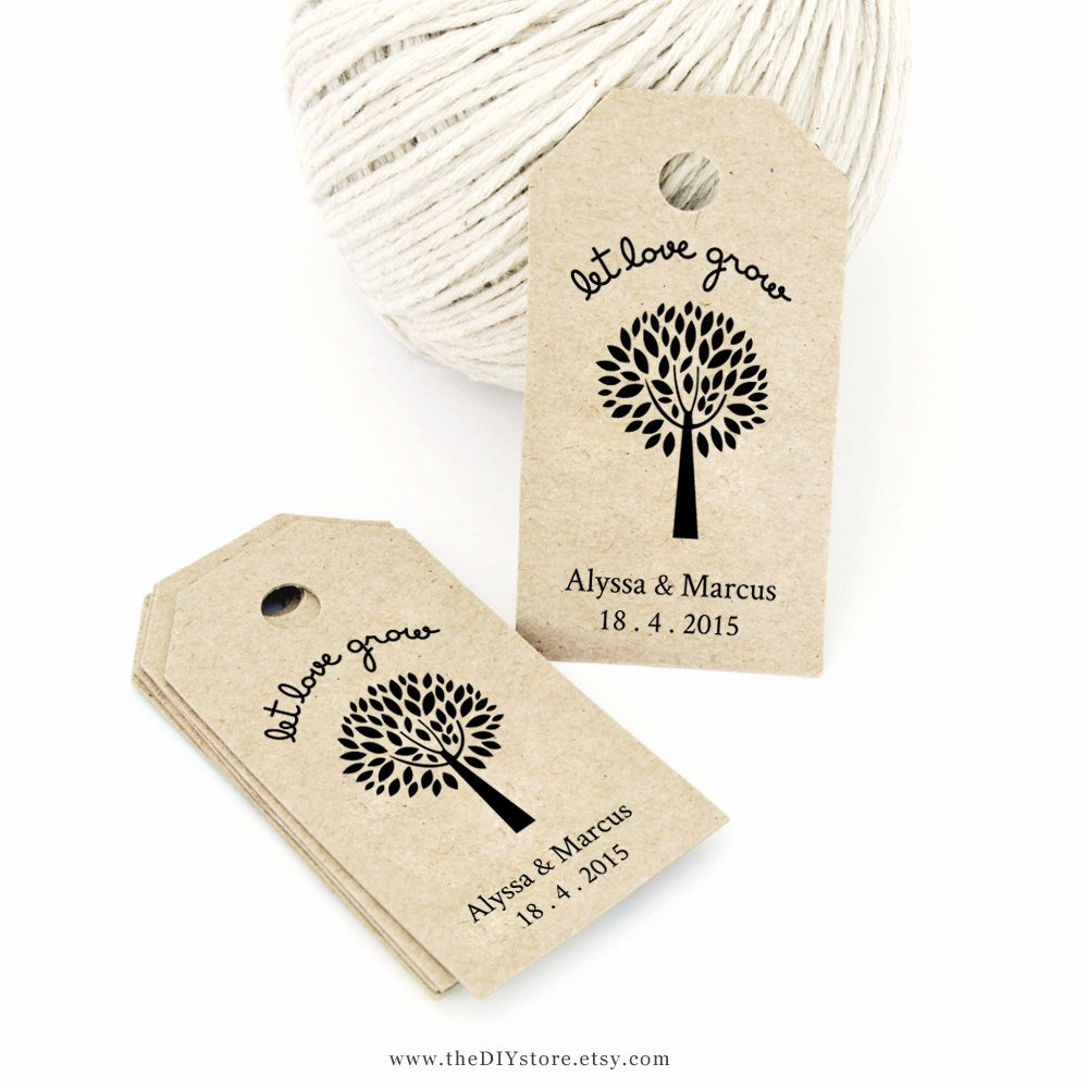 Wedding Favor Tags Template Inspirational Let Love Grow Favor Tag Template Medium Wedding Tag by