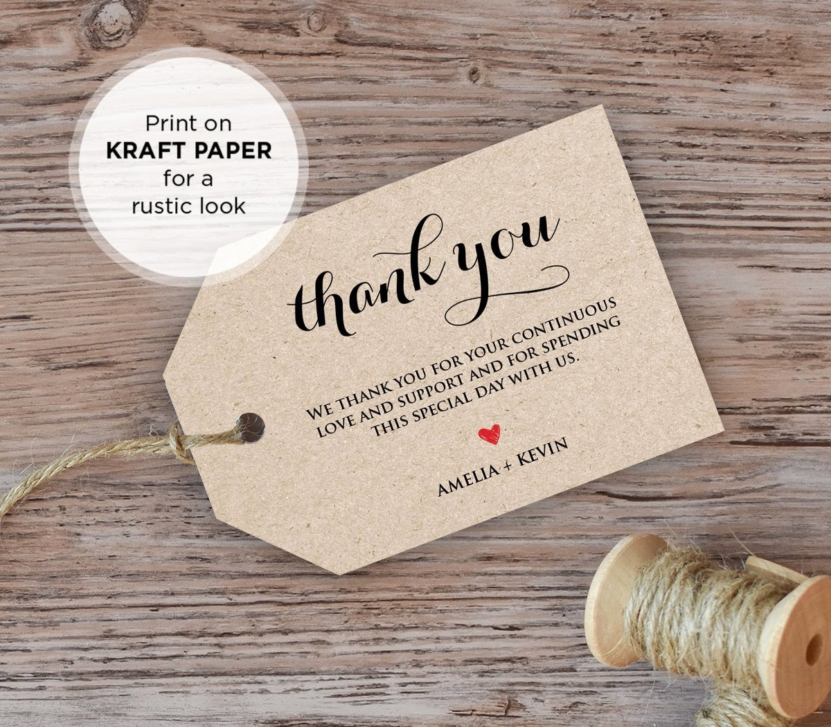 Wedding Favor Tags Template Luxury Wedding Thank You Tag Wel E Tag Favor Tag Diy Kraft